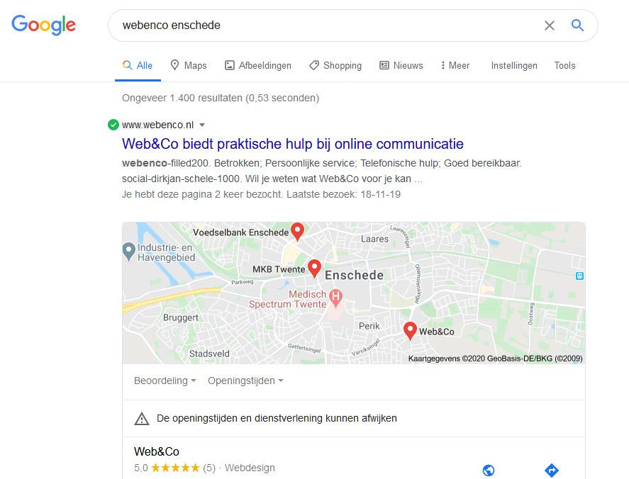 hoger in google komen, informatieblok